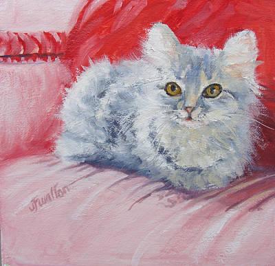 Painting - Kitten by Judy Fischer Walton