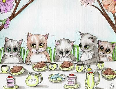 Painting - Kitten Tea Party by Julie McDoniel
