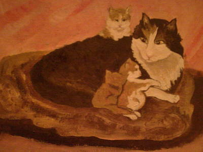 Painting - Kittens by Helen Vanterpool