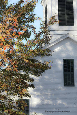 Photograph - Kittery First Cong Church by Mark Alesse