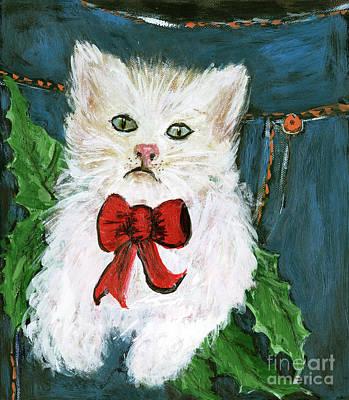 Painting - Kitties First Christmas by Pati Pelz
