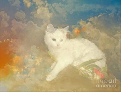 Kitty Art Precious By Sherriofpalmsprings Art Print