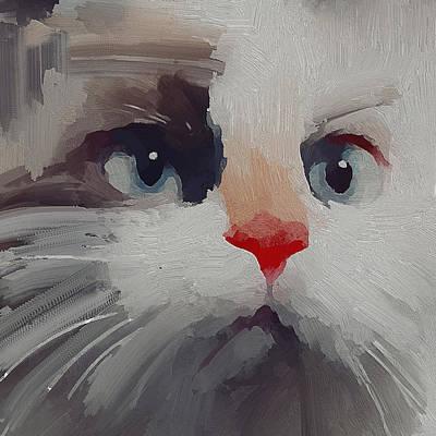 Kitty Digital Art - Kitty Avatar by Yury Malkov