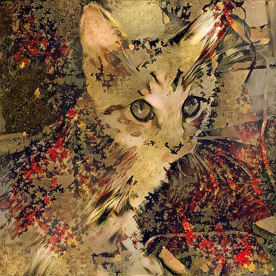 Digital Art - Kitty by Bruce Rolff