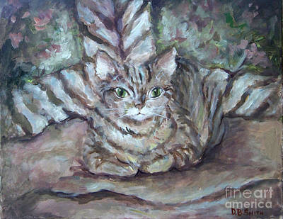 Painting - Kitty Camo by Deborah Smith