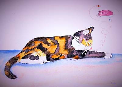 Drawing - Kitty Cat by Denise F Fulmer