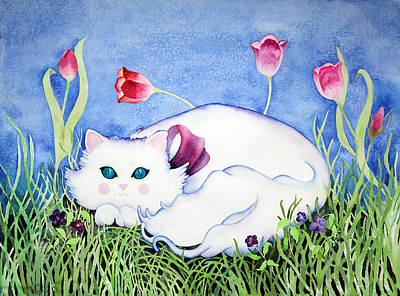 Painting - Kitty Cat by Lisa Vincent