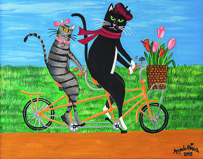 Painting - Kitty Cat Outing by Amanda Johnson