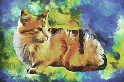 Digital Art - Kitty Chaos by Theresa Campbell