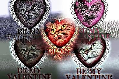 Cabochon Digital Art - Kitty College By Artful Oasis 3 by Artful Oasis