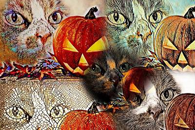 Cabochon Digital Art - Kitty College By Artful Oasis 8 by Artful Oasis