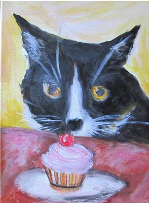 Painting - Kitty Cupcake by Denice Palanuk Wilson