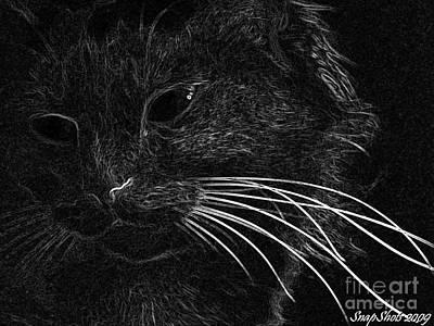 Kitty Art Print by Emily Kelley