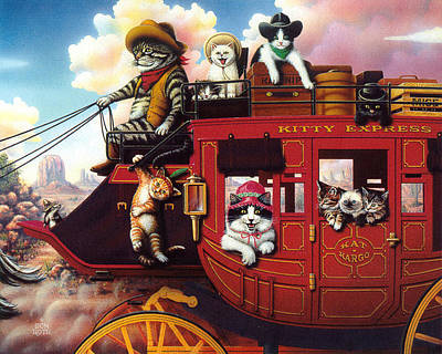 Painting - Kitty Express by Don Roth