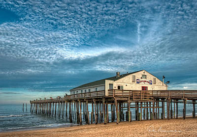 Best Sellers - Dan Beauvais Royalty-Free and Rights-Managed Images - Kitty Hawk Pier and Altocumulus 5039 by Dan Beauvais
