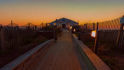 Photograph - Kitty Hawk Pier Sunrise by Brenda Jacobs