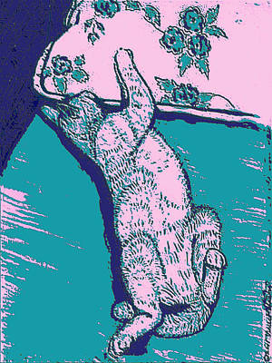 Linoleum Mixed Media - Kitty Heaven #2 by Vincent Mantia
