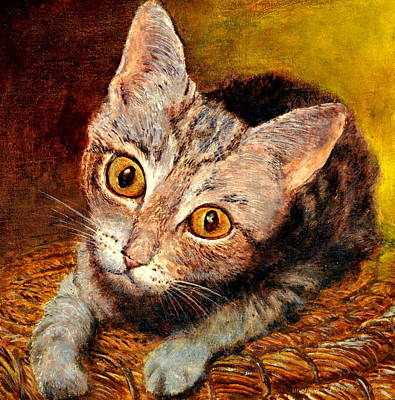 Painting - Kitty by Henryk Gorecki