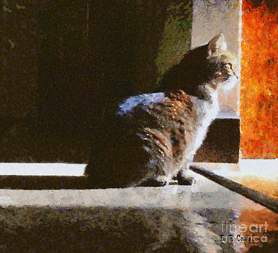 Painting - Kitty In The Light by Elizabeth Coats