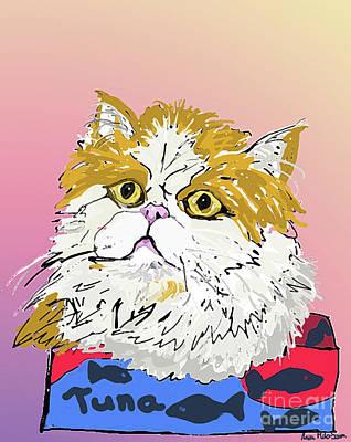 Digital Art - Kitty In Tuna Can by Ania M Milo