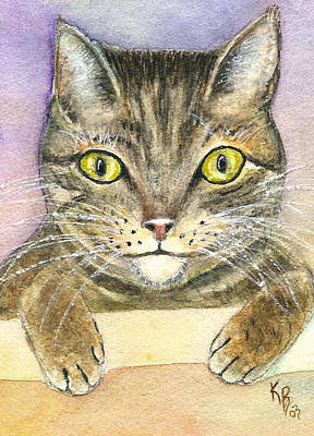 Painting - Kitty by Karen Fleschler