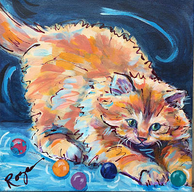 Painting - Kitty Keepsies by Judy Rogan