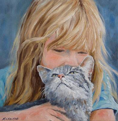 Painting - Kitty Kisses by Debra Mickelson