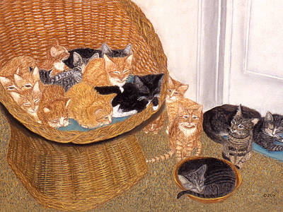 Painting - Kitty Litter I by Karen Zuk Rosenblatt