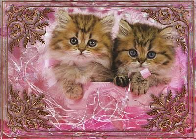 Digital Art - Kitty Love by Mario Carini