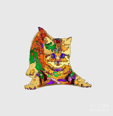 Digital Art - Kitty Love. Pet Series by Rafael Salazar