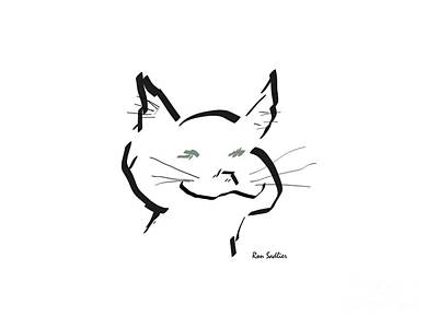 Drawing - Kitty by Ron Sadlier