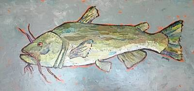 Painting - Kitty The Catfish by Phiddy Webb