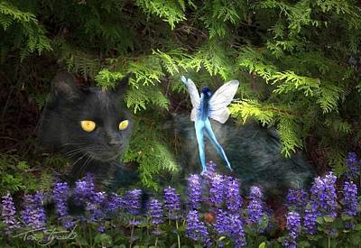 Kitty Digital Art - Kitty by Tom Straub
