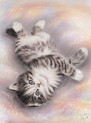 Kitty Art Print by Valentina Vassilieva