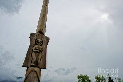 Photograph - Kitwanga Totem Pole by David Arment
