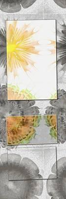 Light Goldenrod Painting - Kiwanian Symmetry Flower  Id 16164-223510-05181 by S Lurk