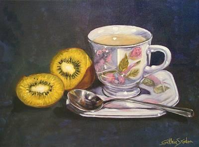 Kiwi And Tea Original by Cynthia Snider