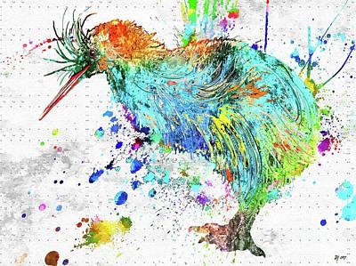 Mixed Media - Kiwi Bird by Daniel Janda
