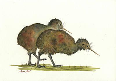Kiwi Birds Art Print