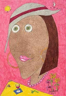 Painting - Kiwi Eyes by Lew Hagood