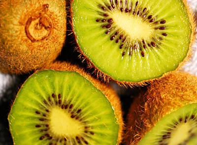 Kiwi Fruit Art Print by Nancy Mueller
