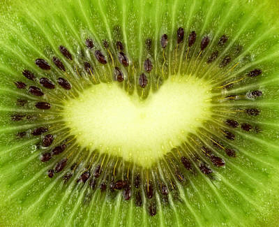 Passion Fruit Mixed Media - Kiwi Heart by Boyan Dimitrov