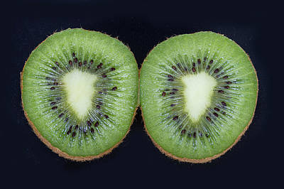 Photograph - Kiwifruit On Black by James BO Insogna