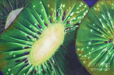 Kiwi Drawing - Kiwis by Isabela Presedo-Floyd