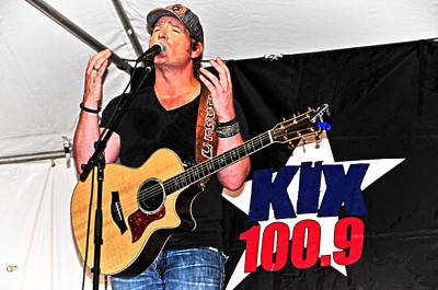 Photograph - Kix Country's Jerrod Neimann by Mike Martin