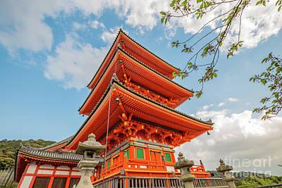 Photograph - Kiyomizu Pagoda Kyoto by Benny Marty