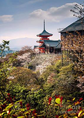Photograph - Kiyomizudera Pagoda And Butai by Karen Jorstad