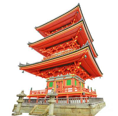 Photograph - Kiyomizudera Pagoda Kyoto by Benny Marty