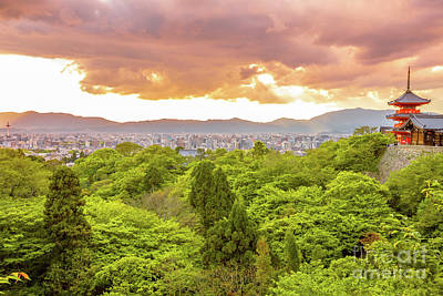Photograph - Kiyomizudera Temple Aerial by Benny Marty