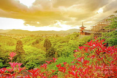 Photograph - Kiyomizudera Temple Aerial View by Benny Marty